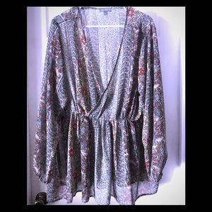 Sheer paisley blouse!